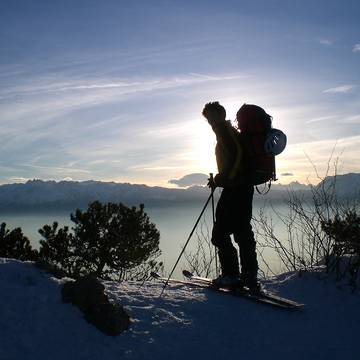 Cross-country ski touring